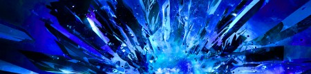Glass Blue 5760x1080