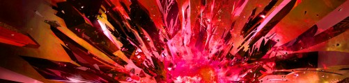 Glass Red 5760x1080